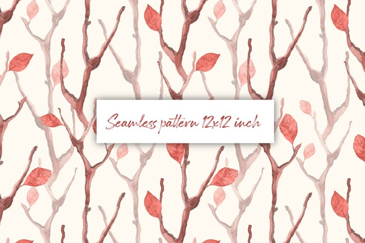 Dry branches. Seamless pattern example image 1