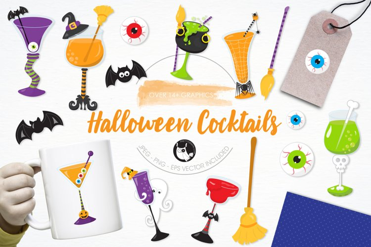 Halloween Cocktails graphics and illustrations - Free Design of The Week Font