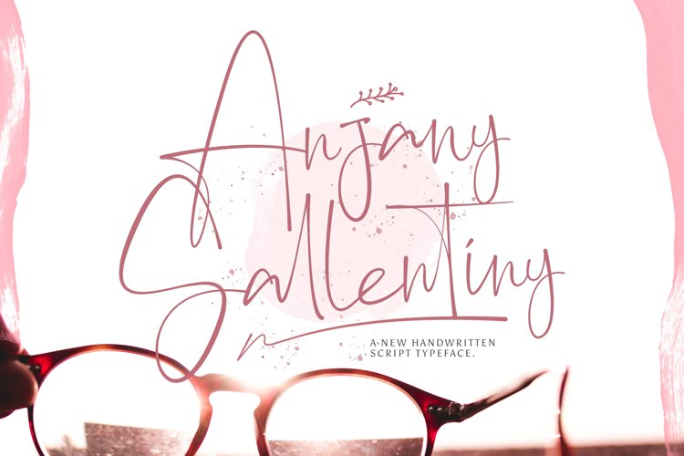 Anjany Sallentiny - Handwritten Font example image 1