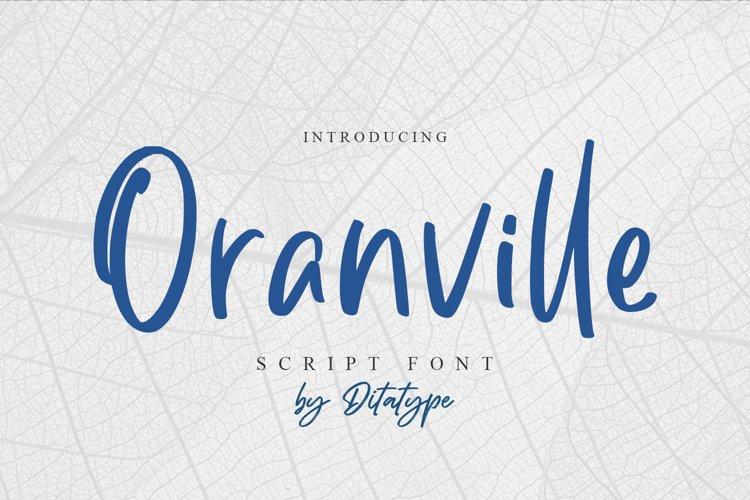 Oranville-Classy Handwritten Font example image 1