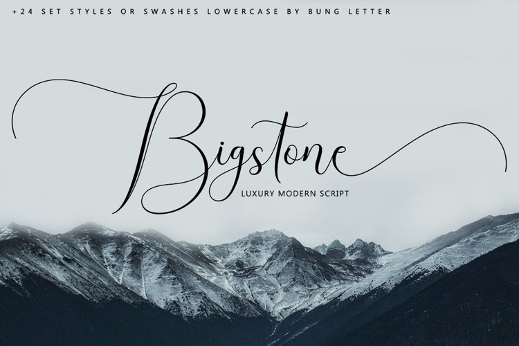 Bigstone - Luxury Script example image 1