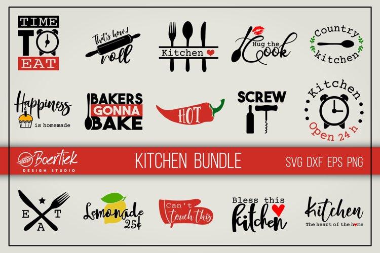 Kitchen bundle, SVG cutting files example image 1