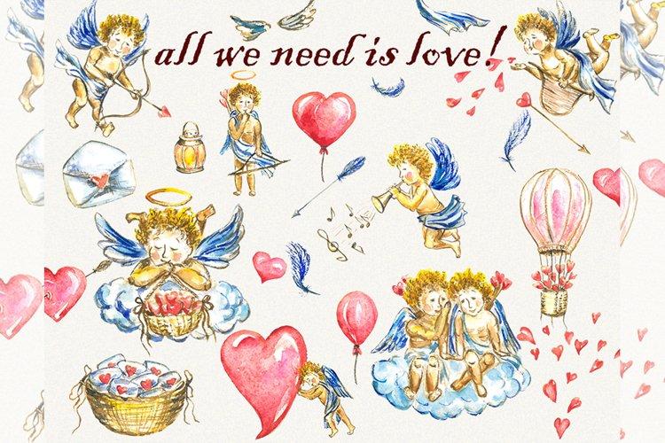 Love clipart, cupid clipart, angel clipart, heart clipart