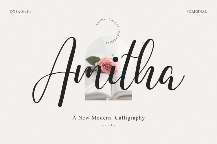Amitha - A New Modern Calliraphy example image 1