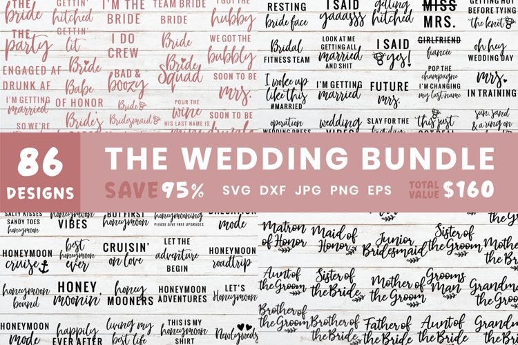 The Ultimate Wedding Bundle | Wedding Design Svg Files example image 1