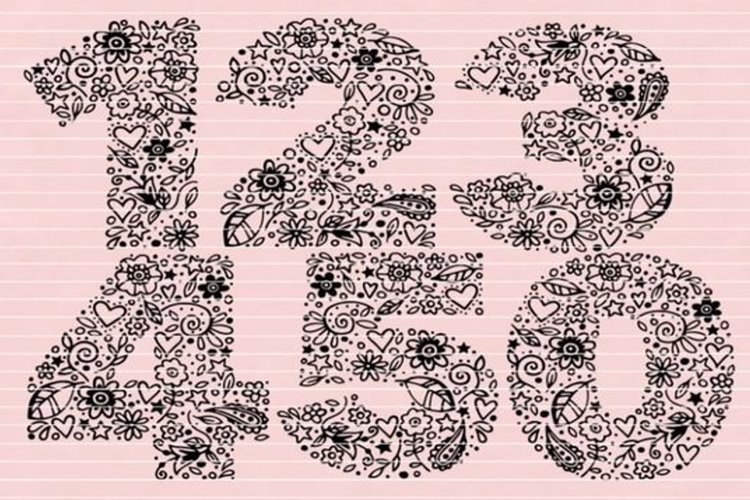 Numbers 1-5 SVG DXF EPS PDF PNG JPG example image 1