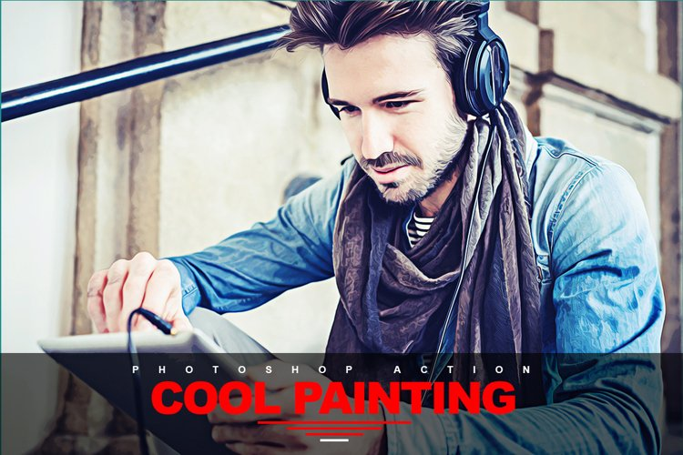 Cool Painting Photoshop Action example image 1