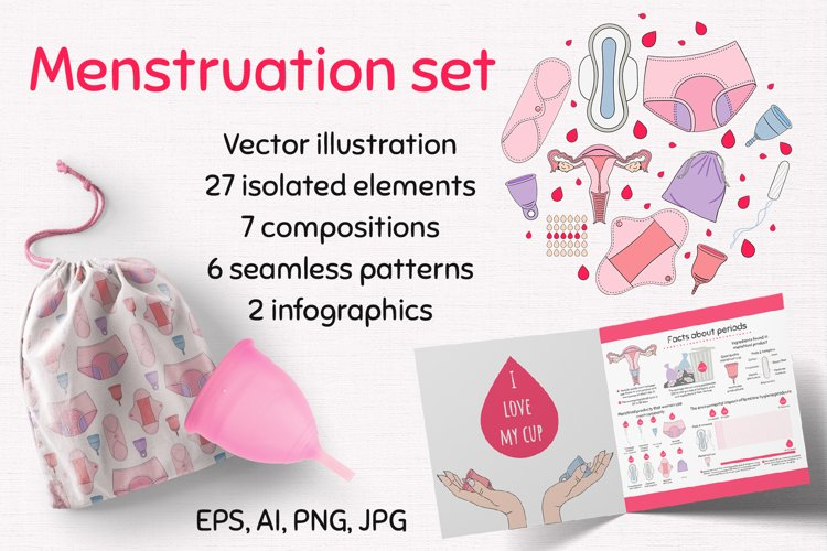 Collection of periods - clip art, patterns, compositions