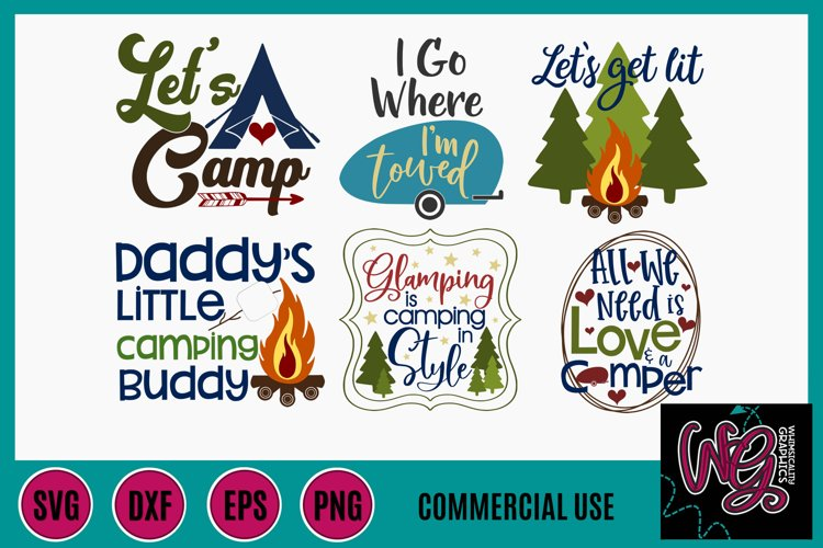 2019 Camping Mini Bundle SVG, DXF, PNG, EPS Comm