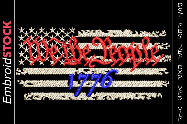 We The People 1776 Flag Background