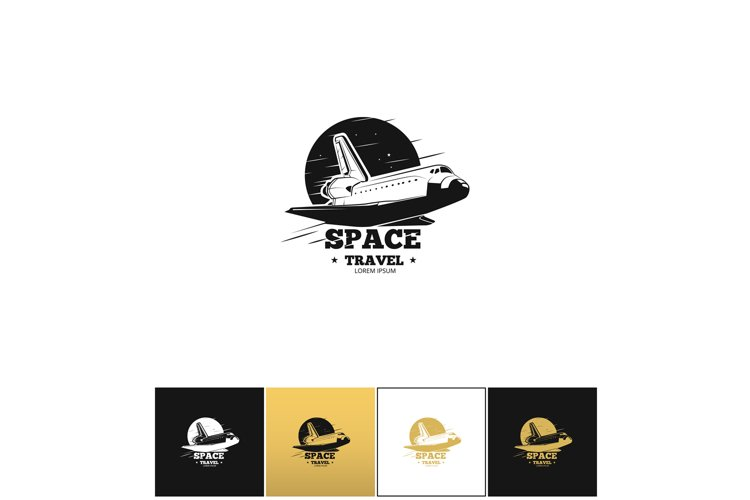Shuttle logo or space travel vector icon example image 1