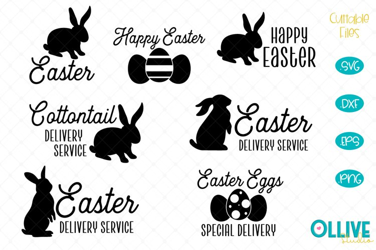 Easter Delivery Service Bunny SVG Bundle example image 1
