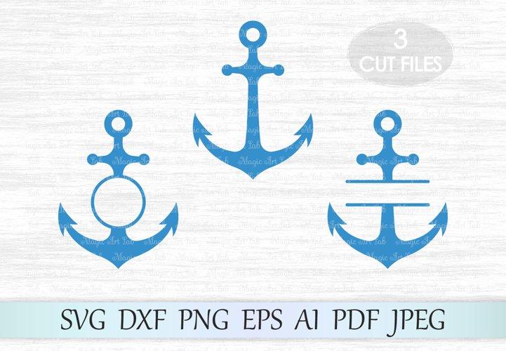 Anchor svg, Anchor monogram svg, Anchor frames svg, Anchor vector, Anchor cut, Anchor clipart, Anchor circle monogram, Anchor cut file