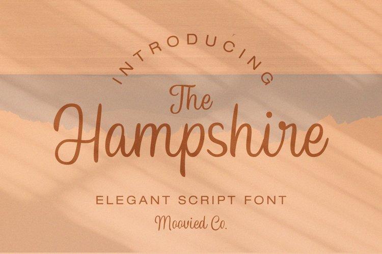 Hampshire Elegant Script example image 1