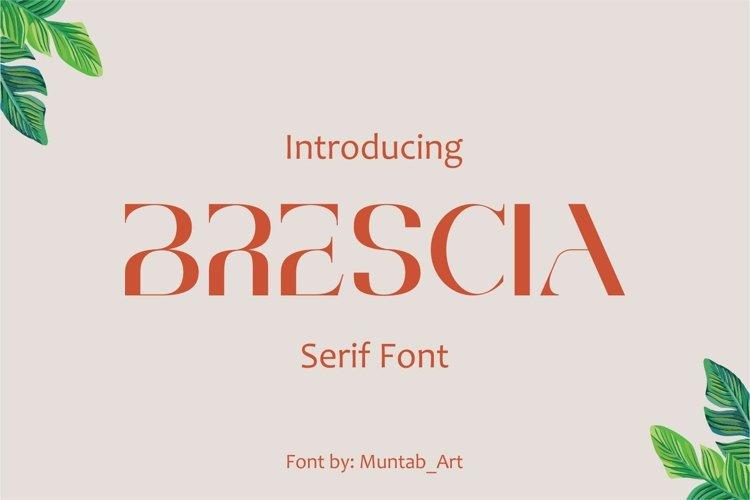 Brescia   Modern Serif example image 1