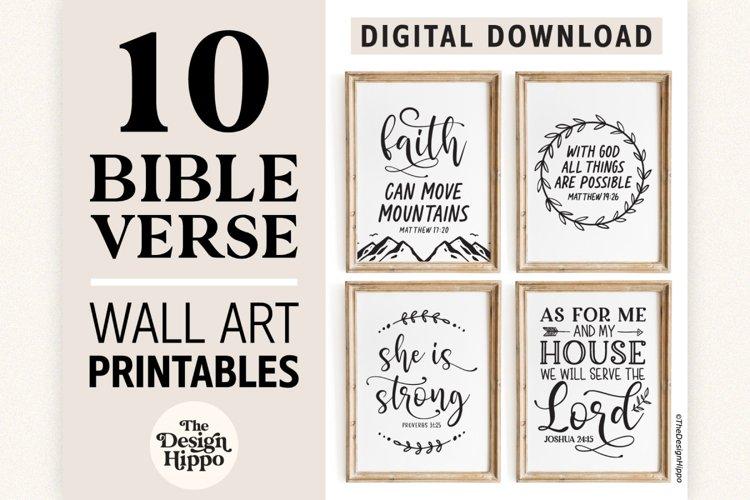 Christian Wall Art Printables - Set of 10 Digital Prints