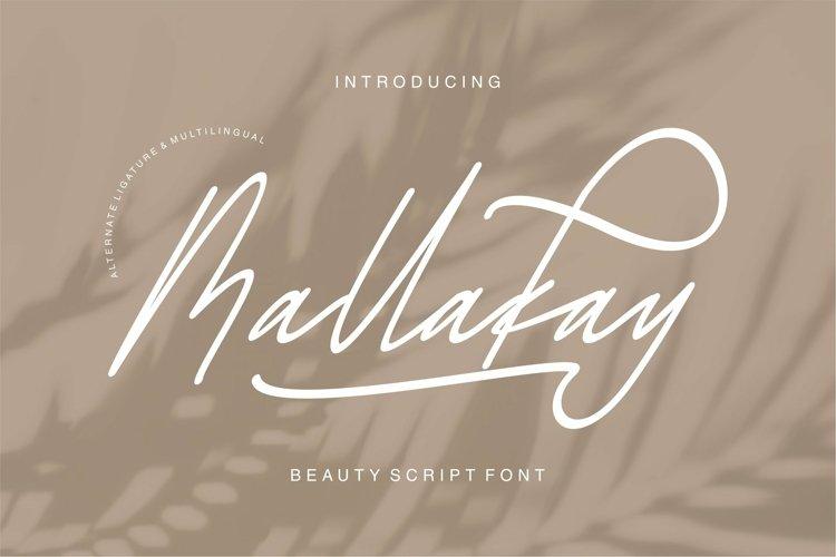 Web Font Mallakay - Beauty Script Font example image 1