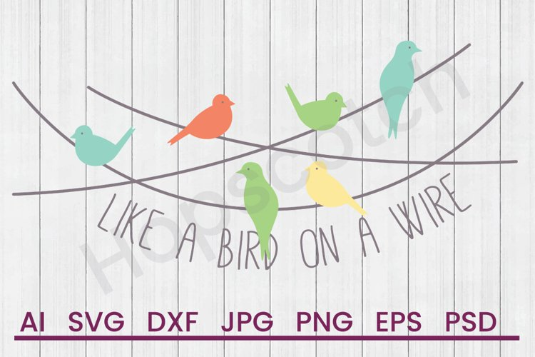 Birds on Pole SVG, Like Bird SVG, DXF File, Cuttatable File example image 1