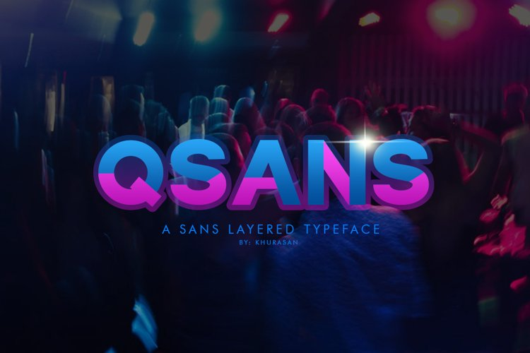 Qsans Layered Font example image 1