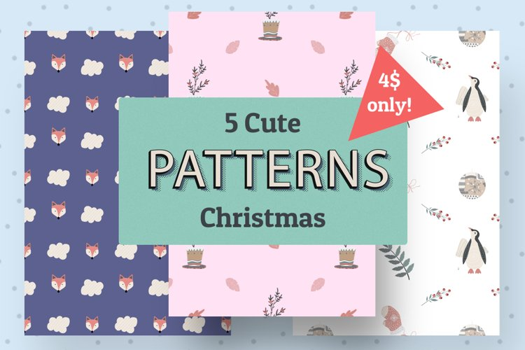 5 Cute Christmas patterns