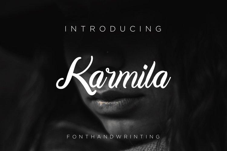 Karmila Font Script example image 1