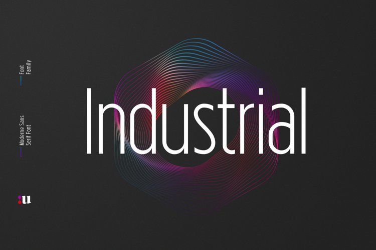Industrial Sans Typeface example image 1
