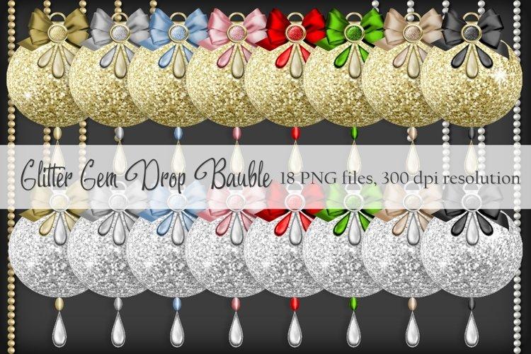 Glitter Gem Drop Baubles example image 1