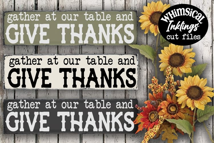 Give Thanks SVG example image 1