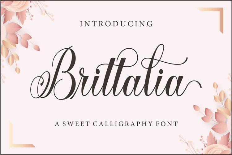 Brittalia Script example image 1