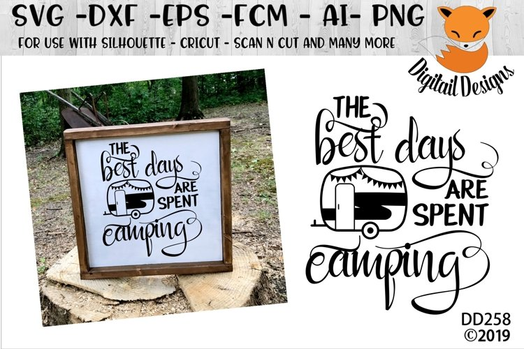 The Best Days Are Spent Camping Camper SVG example image 1