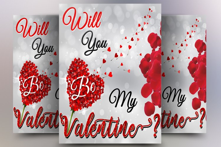Will You Be My Valentine Vector Image example image 1