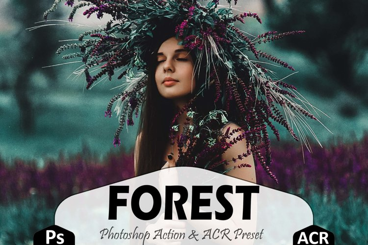 Forest Photoshop Actions And ACR Presets, Aqua Plant Ps example image 1