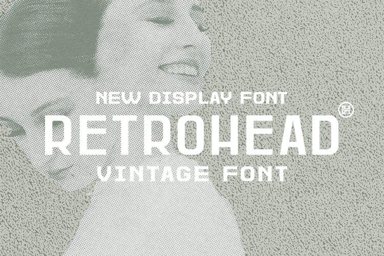 Retrohead Typeface | Font example image 1