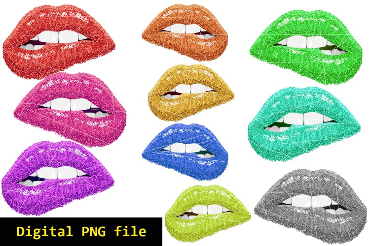 Digital PNG file for print, Digital mouth colorful, Download example image 1