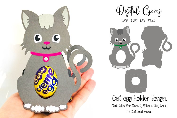 Cat egg holder design SVG / DXF / EPS files example image 1