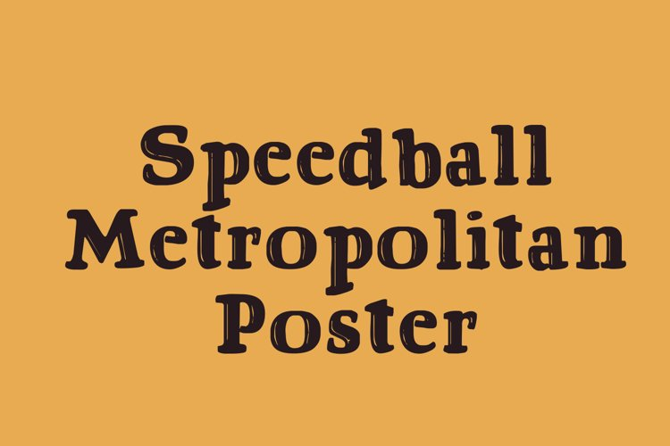 Speedball Metropolitan Poster example image 1