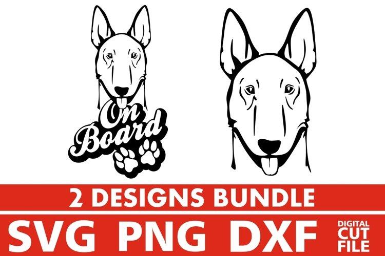 2x Amstaff On Board Bundle svg, Dog Breed svg, Dog On Board example image 1
