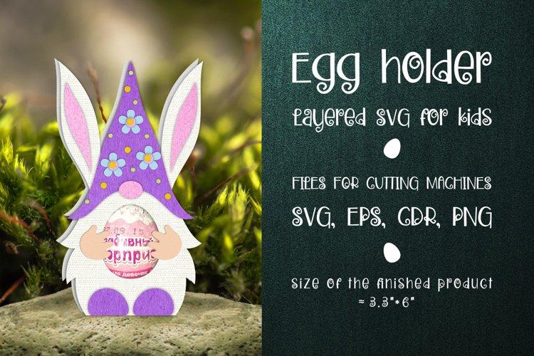 Easter Gnome - Chocolate Egg Holder SVG