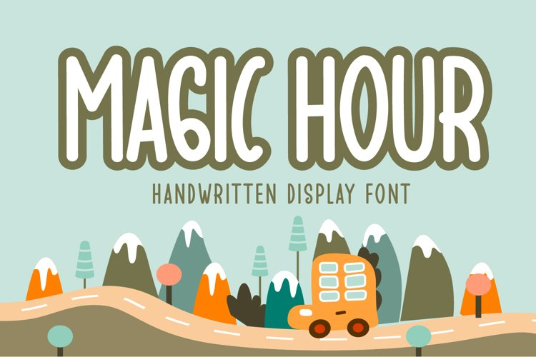 Magic Hour - Handwritten Display Font example image 1