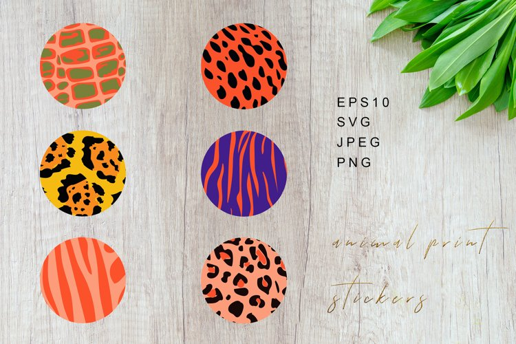 Animal Print Stickers, Animal Print Highlights example image 1