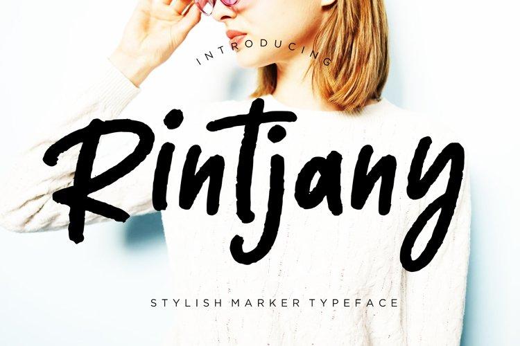 Rintjany Stylish Marker Typeface example image 1