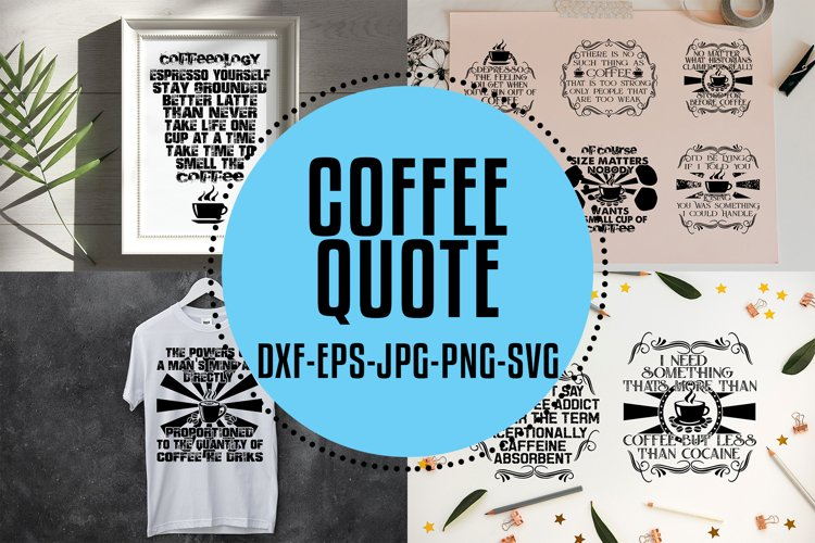 Coffee Quotes SVG V2 Black example image 1