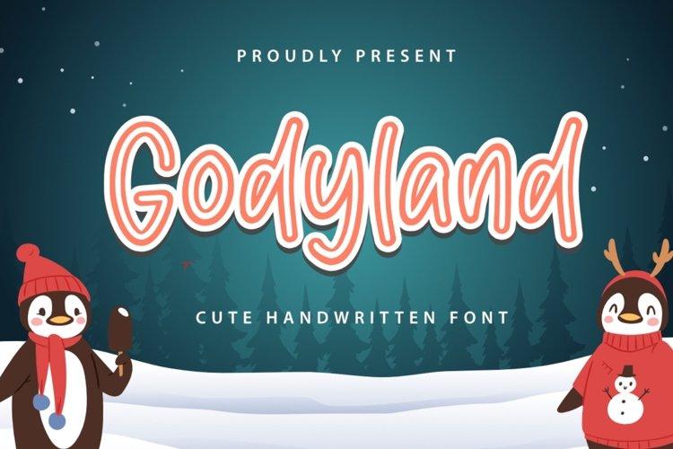 Godyland Font example image 1