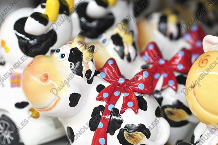 Bull figures as a symbol of the coming 2021 at Christmas Mar example image 1