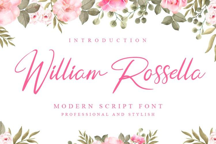 William Roassella | Elegant Signature Font example image 1