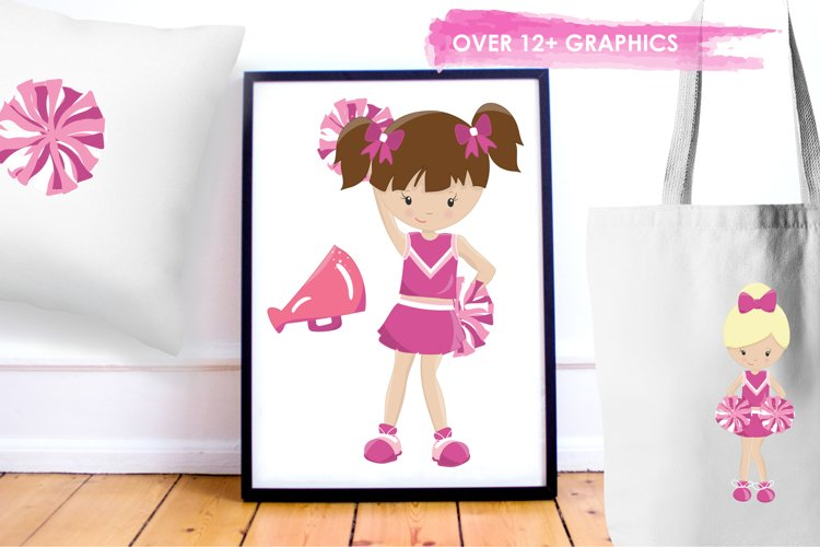 Cheerleaders graphics and illustrations - Free Design of The Week Design3