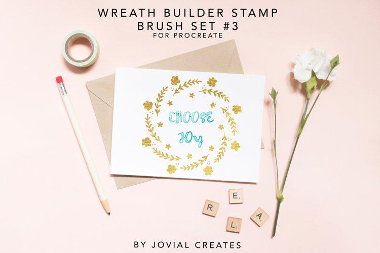 Wreath Builder Stamp Brush Set #3 for Procreate