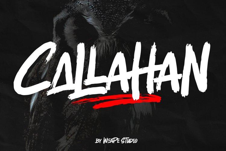 Callahan - Brush Font example image 1