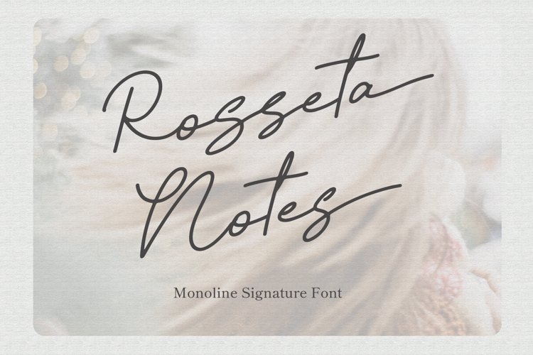 Rosseta Notes - Monoline Signature Fonts example image 1