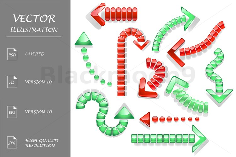 Dotted Curved Glass Arrows example image 1